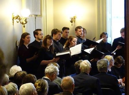 Annual Dinner & Recital celebrating the acquistion of Orlando di Lasso Motet Partbooks. The Kantorei of Westminster Choir College.