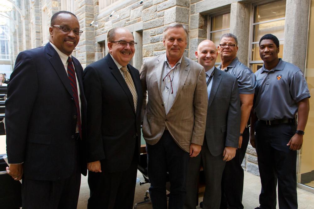 Public Safety Team with John Grisham. (photograph by Shelley M. Szwast)