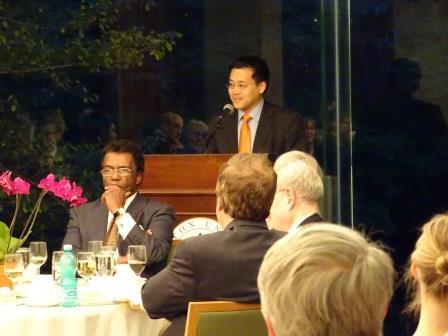 Annual Dinner & Recital celebrating the acquistion of Orlando di Lasso Motet Partbooks. Provost David S. Lee.