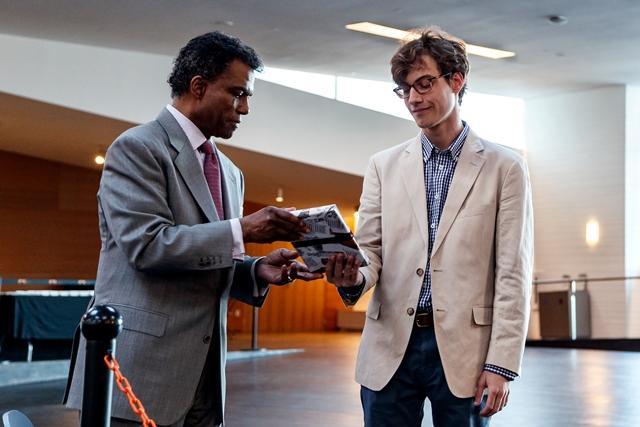 P. Randolph Hill '72 awards Alexander Gottdiener '19 2nd Prize, Adler Prize 2018.